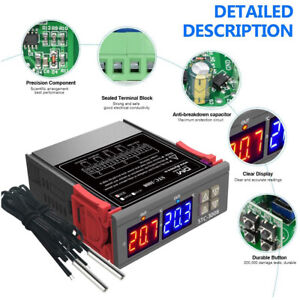 Digital Egg Incubator Thermostat Humidity Temperature Controller Output Dual