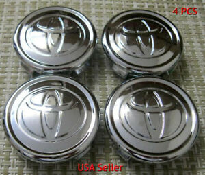 4x For Toyota 57mm Chrome 04 16 Prius Yaris Corolla Wheel Rim Center Hub Caps