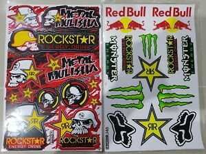 2 Rockstar Energy Racing Sticker Motocross Motogp Aufkleber Dc Metal Mulisha