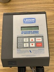 Leeson Adjustable Speed Ac Motor Control Part 174931 00