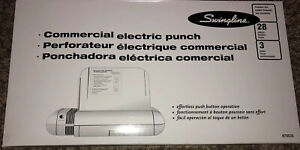 Swingline Commercial Electric Punch 74535 28 Sheets 3 Hole Punch Nib