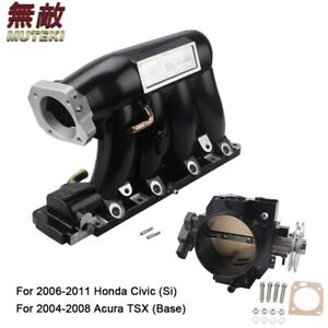 Base Intake Manifold With Throttle Body For 06 11civic Si K20 Z3 04 08 Acura Rsx