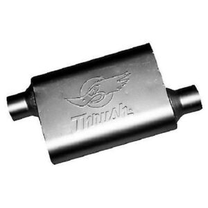 Thrush 17659 Welded Muffler 2 5in Offset Inlet 2 5in Offset Outlet