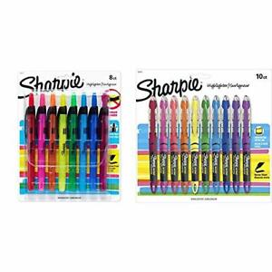 Sharpie Liquid Retractable Highlighters Assorted Colors Chisel Tip Highlighte