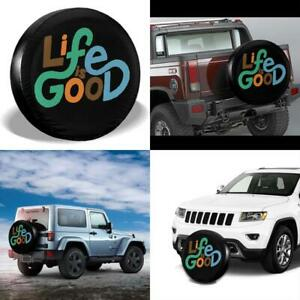 Mxpink Life Is Good Spare Tire Cover Universal Fit For Jeep Trailer Rv Suv T