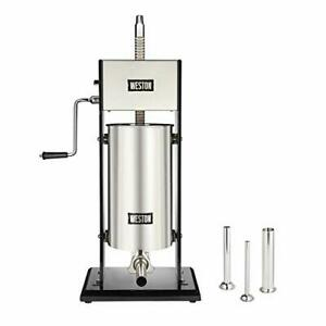 30 Lb Vertical Sausage Stuffer With All metal Gears And Commercial grade