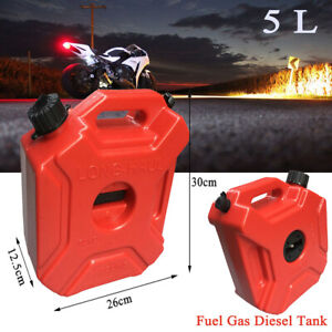 5l Fuel Tank Petrol Can Car Jerry Can With Bracket Motorcycle Gasoline Container