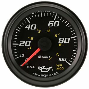 Equus 6244 6000 Series 2 Inch Mechanical Oil Pressure Gauge