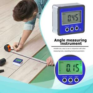 Magnetic Digital Protractor Inclinometer Level Box Angle Finder Box blue Us4