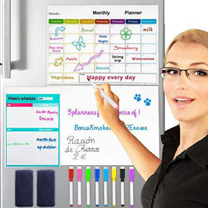 Dry Erase Calendar Whiteboard 3 In 1 Magnetic Calendars For Refrigerator Monthly