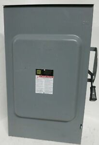 Square D D224nrb 3r 200 Amp Fusible Safety Switch 2 pole 240v 60hp 200a