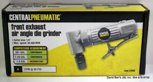 Central Pneumatic Pneumatic 1 4 In Front Exhaust Angle Die Grinder 52848