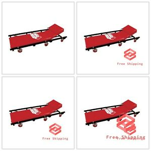 Big Red Rolling Garage Creeper Padded Mechanic Cart With Adjustable Headrest 40
