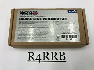 Matco Tools Nos 3 Piece 1 4 X 3 8 8mm X 10mm Brake Line Wrench Set Blw2