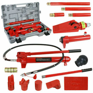 Hydraulic Jack Body Frame Repair Kit Auto Shop Tool Lift Ram 10 Ton Porta Power