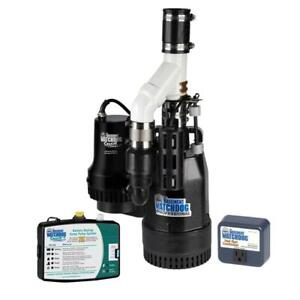 Basement Watchdog Big Combo Connect 1 2 Hp Primary And Battery Backup Sump Pump