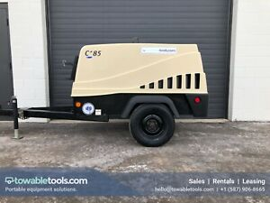 Used 2014 Doosan C185 185 Cfm Portable Diesel Air Compressor low Hours