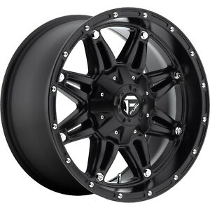 4 18x9 Black Fuel Hostage 6x135 6x5 5 1 Wheels Terra Grappler G2 Tires
