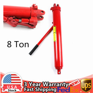 8 Ton Hydraulic Long Ram Jack Engine Hoist Lifting For Crane Trailers 645 1135mm