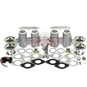 42 Dcoe Twin Throttle Bodies linkage tps air Horns For Miata Mx5 Ae86 4age 3sge