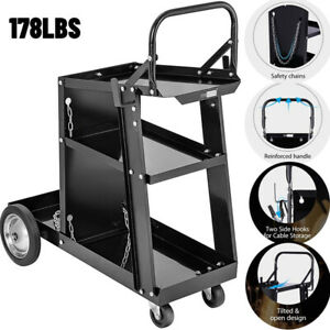 Welder Welding Cart W Wheels Tank Storage For Tig Mig Welder Plasma Cutter
