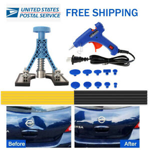 Auto Paintless Dent Repair Kits Ding Hail Removal Tools Remover Blue Puller tab