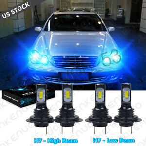 For Mercedes Benz C230 2002 2007 4x 8000k Led Headlight High Low Combo Bulbs