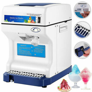 Electric Ice Crusher Shaver Shaving Snow Cone Maker Machine 265lbs hr Commercial