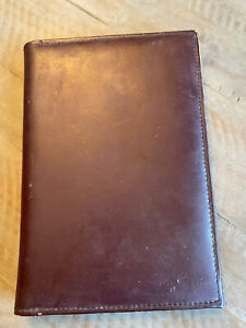 Leeds Leather Portfolio With Pad Brownish Maroon Slide In Compartments