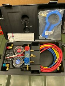 New Spx Robinair R134a Manifold Gauge Set 13136 W Case Hvac A c Refrigeration