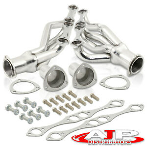 Stainless Exhaust Shorty Headers Kit For Chevy Small Block 265 305 327 350 400