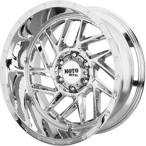 4 20x10 Chrome Wheel Moto Metal Mo985 Breakout 6x5 5 18