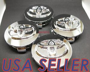 4x For Toyota Chrome Sienna Venza Camry Matrix Wheel Rim Center Hub Caps 62mm