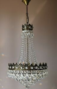 Empire Vintage Crystal Chandelier French Home Living Lighting Pendants Lamps