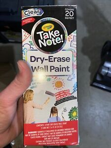 Crayola Take Note Dry erase Wall Paint 20 Sq Ft Clear