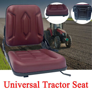 Universal Tractor Seat Red Suspension Seat For Excavator Forklift Skid Loade Us