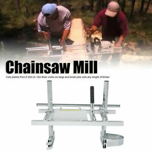 20 24 Chainsaw Mill Log Guide Bar Chain Saw Planking Lumber Cutting Tool