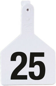 Z Tags Cow Ear Tags White Numbered 26 50