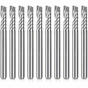 Hqmaster Cnc Router Bits 10 Pack Single End Mill Set Milling Cutter Tungsten