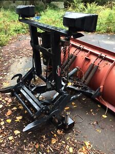 Used Western 7 6 Pro Plow Snow Plow Red Heavy Duty Professional