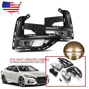 Clear Lens Bumper Fog Light Lamp Replacement For 2020 2021 Nissan Sentra Sylphy