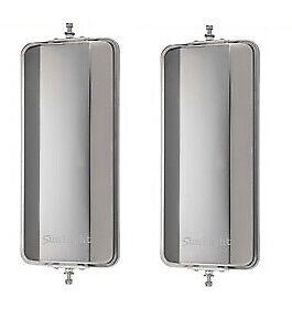 One Pair Of 7 X 16 West Coast Mirrors Stainless Steel Truck Mirrors