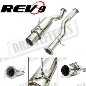 For Nissan 350z 03 09 Rev9 3 Piping Flowmaxx Single Stainless Steel Exhaust Kit