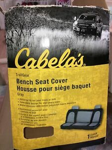 Black Gray Full Size Bench Seat Cover New With Opened Box