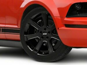 American Muscle Saleen Wheel In Black 20x9 Rim Fits Ford Mustang 2005 2009