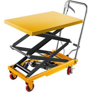 Vevor Hydraulic Table Cart Scissor Lift Table 770 lb Capacity 51 2 Max Height