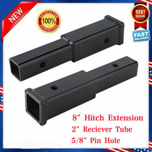 5 8 Pin Hole 2 Trailer Hitch Extension Receiver Tube Extenders 7 Length Black