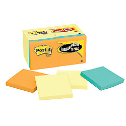 Post it Notes With 4 Bonus Pads 3 X 3 Assorted Colors Pack Of 18 Pads
