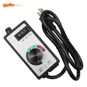 For Router Fan Variable Speed Controller Electric Motor Rheostat Ac 120v Us New