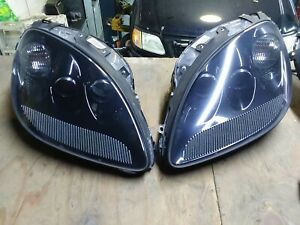 2005 2013 C 6 Corvette Black Headlights 1 Pair